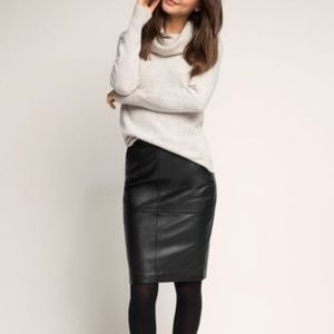 Regiani genuine leather black pencil skirt, 10